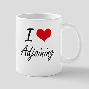 I Love Adjoining Artistic Design Mugs
