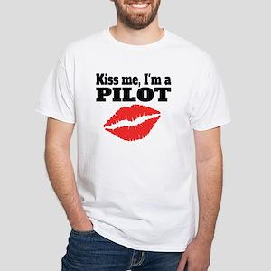 Kiss Me Im A Pilot T-Shirt