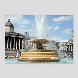 Fountain, Trafalgar Square, London 5'x7'Area Rug