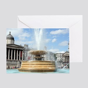 Fountain, Trafalgar Square, London Greeting Card