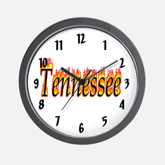 Tennessee Flame Wall Clock