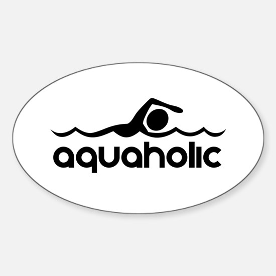 Cute Swim Sticker (Oval)