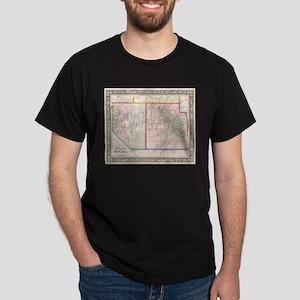 Vintage Map of Nevada and Utah (1866) T-Shirt