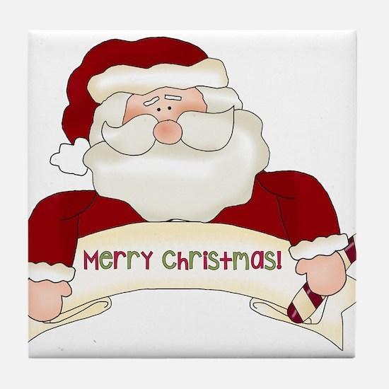 Santa Claus Tile Coaster