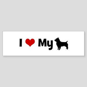 I love my Australian Terrier Bumper Sticker