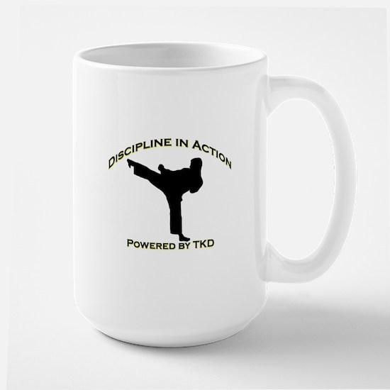 Taekwondo Discipline in Action Large Mug