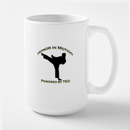 Taekwondo Honor in Motion Large Mug