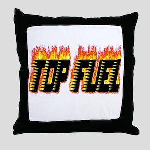 Top Fuel Flame Throw Pillow