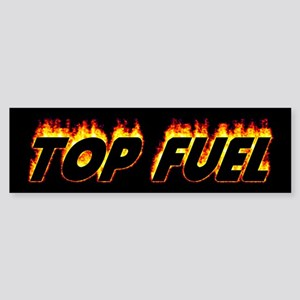 Top Fuel Flame Bumper Sticker