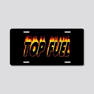 Top Fuel Flame Aluminum License Plate