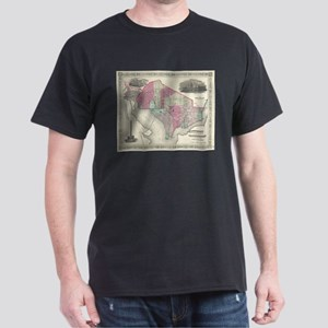 Vintage Map of Washington D.C. (1866) T-Shirt