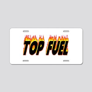 Top Fuel Flame Aluminum License Plate
