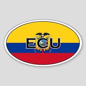 Ecuador flag stickers Oval Sticker