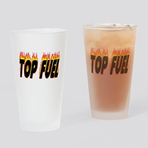 Top Fuel Flame Drinking Glass