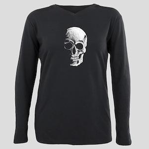 chalk skull sketch Plus Size Long Sleeve Tee