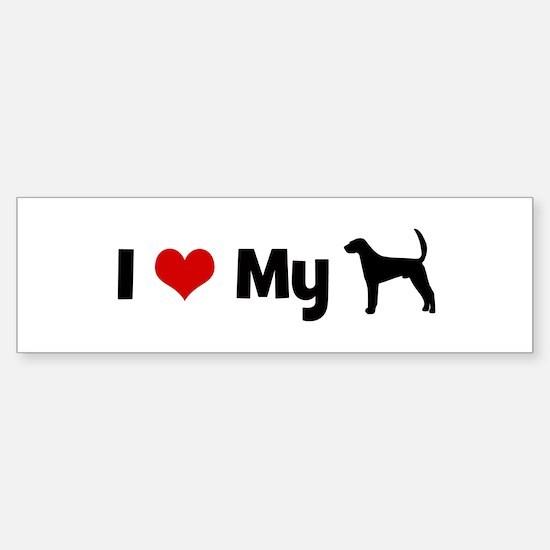 I love my American Fox Hound Bumper Bumper Bumper Sticker