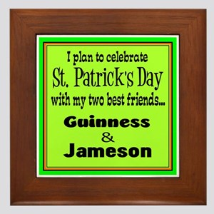 Guinness & Jameson Framed Tile
