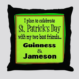 Guinness & Jameson Throw Pillow