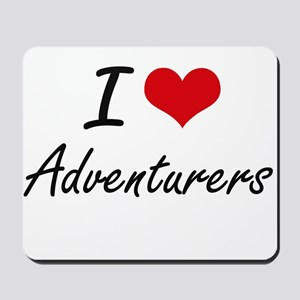 I Love Adventurers Artistic Design Mousepad