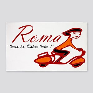ROME SCOTTER GIRL Area Rug