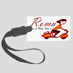 ROME SCOTTER GIRL Large Luggage Tag