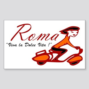 ROME SCOTTER GIRL Sticker (Rectangle)