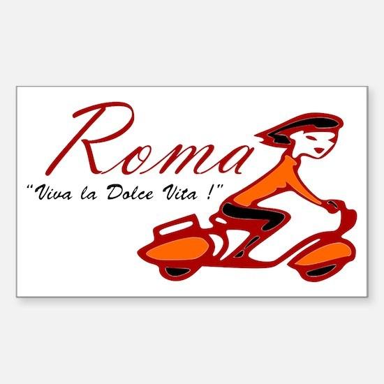 ROME SCOTTER GIRL Sticker (Rectangle)