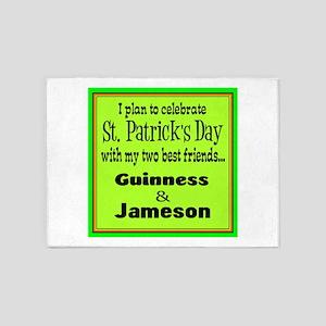 Guinness & Jameson 5'x7'Area Rug