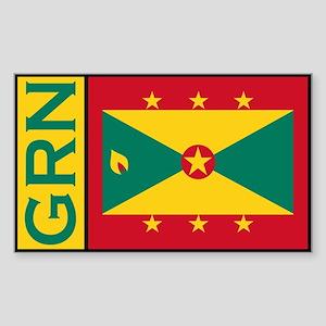 Grenadan Stickers Rectangle Sticker