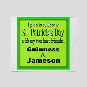 Guinness & Jameson Throw Blanket