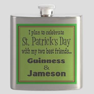 Guinness & Jameson Flask