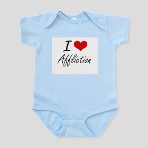 I Love Affliction Artistic Design Body Suit