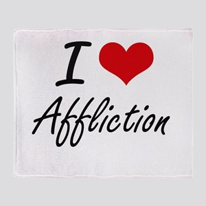 I Love Affliction Artistic Design Throw Blanket