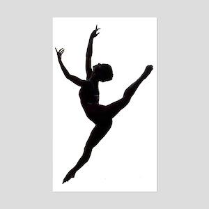 Ballet Dance Sticker (Rectangle)