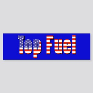 Patriotic Top Fuel Bumper Sticker