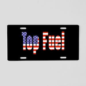 Patriotic Top Fuel Aluminum License Plate