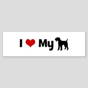 I love my Airedale Terrier Bumper Sticker
