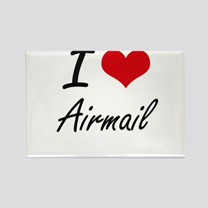 I Love Airmail Artistic Design Magnets