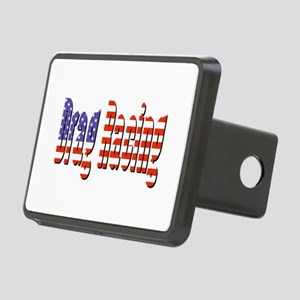 Patriotic Drag Racing Hitch Cover