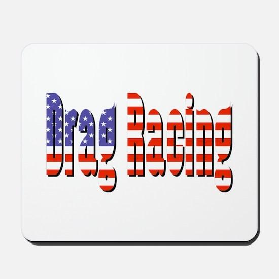 Patriotic Drag Racing Mousepad