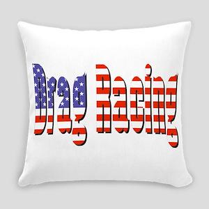 Patriotic Drag Racing Everyday Pillow