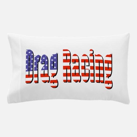 Patriotic Drag Racing Pillow Case