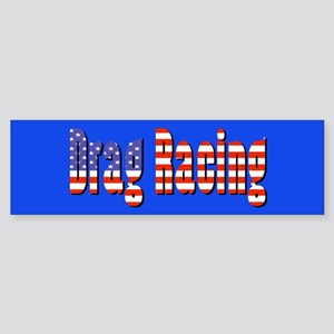 Patriotic Drag Racing Bumper Sticker