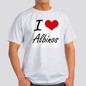 I Love Albinos Artistic Design T-Shirt