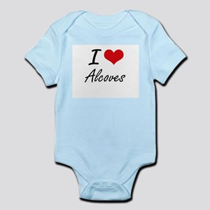 I Love Alcoves Artistic Design Body Suit