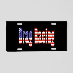 Patriotic Drag Racing Aluminum License Plate