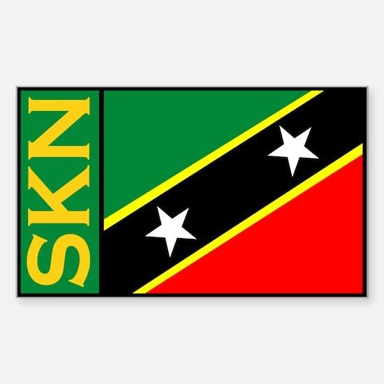 Saint kitts and Nevis sticker Sticker (Rectangular