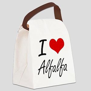 I Love Alfalfa Artistic Design Canvas Lunch Bag