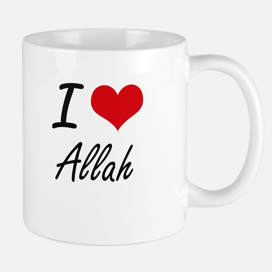 I Love Allah Artistic Design Mugs