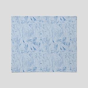 Blue Texture Throw Blanket